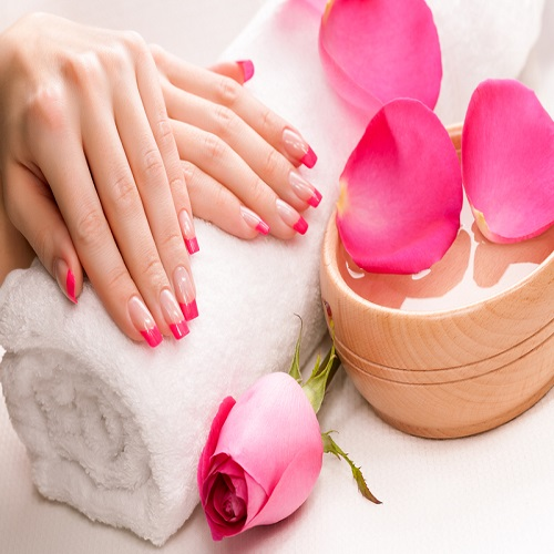 Solar Nails/Pink & White